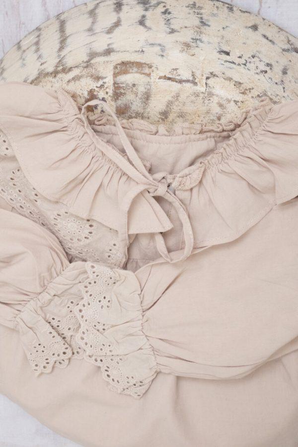 Punanki Kids Clothing Girls Ruffle Lace Shirt
