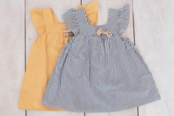 Punanki Kids Clothing END OF RANGE SALE Navy and Mustard Carnival Tops