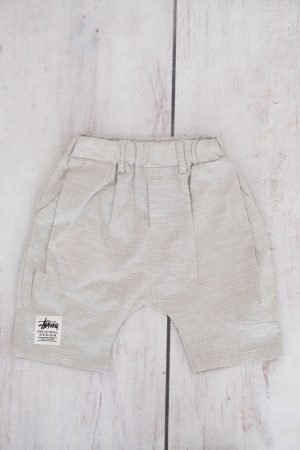Grey Linen Boys Shorts
