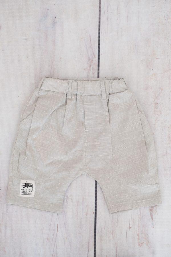 Punanki Kids Clothing END OF RANGE SALE Grey Linen Boys Shorts