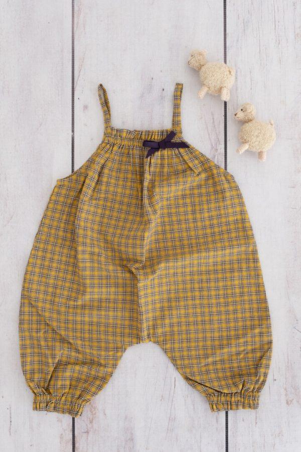 Punanki Kids Clothing All Girls Check Dungaree