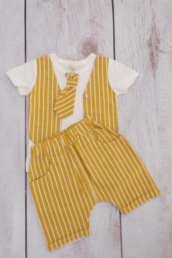 Punanki Kids Clothing END OF RANGE SALE Mustard Stripe Tuxedo