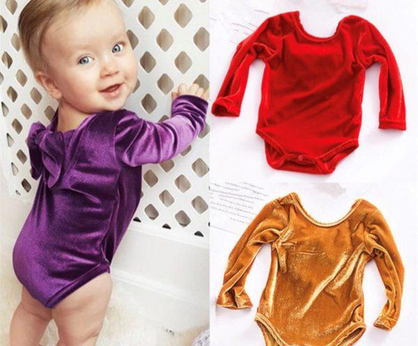 Punanki Kids Clothing Baby Girls Velvet Romper