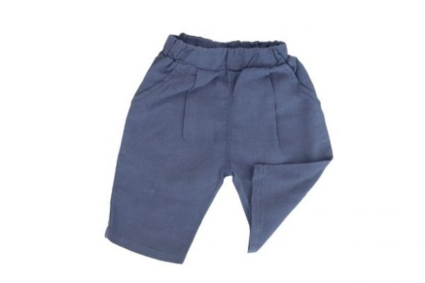 Punanki Kids Clothing All Blue Linen Boys Shorts