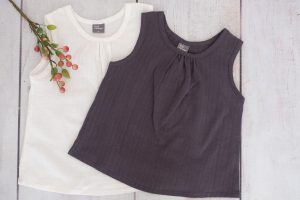 Punanki Kids Clothing All Grey & Natural Cotton Tops