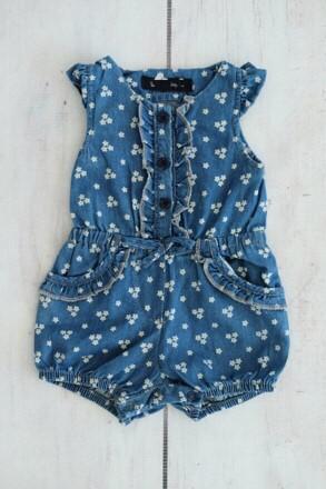 Punanki Kids Clothing All Denim Girl Babygro