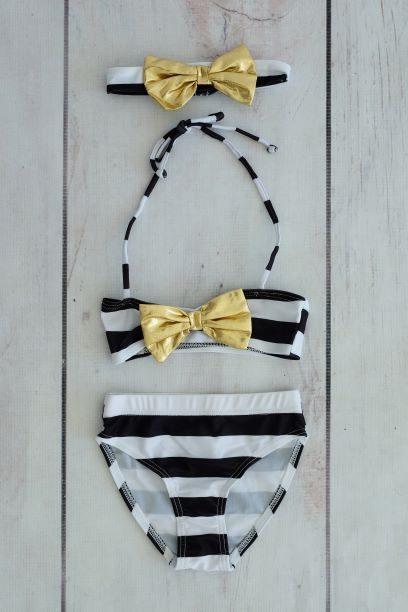 Punanki Kids Clothing Girls Black & White Bikini