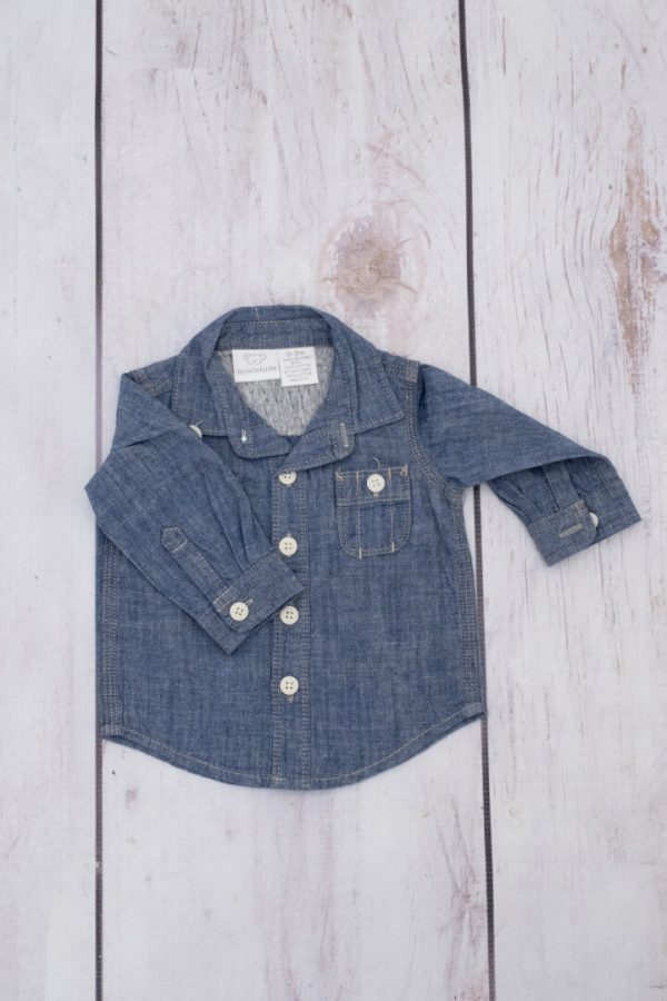 Punanki Kids Clothing Baby Boys Denim l/s Shirt Baby Boy