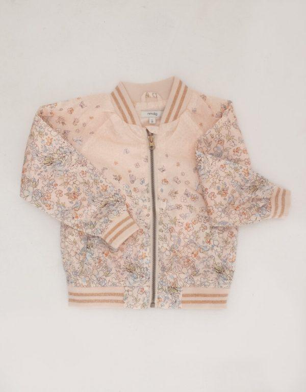 Punanki Kids Clothing Girls Peach Floral Jacket