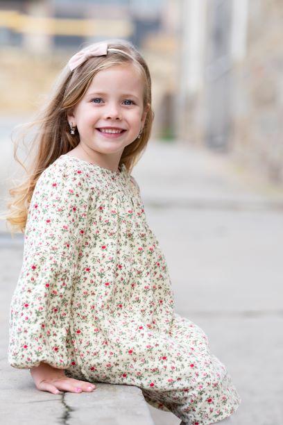 Punanki Kids Clothing Girls Floral Winter Dress