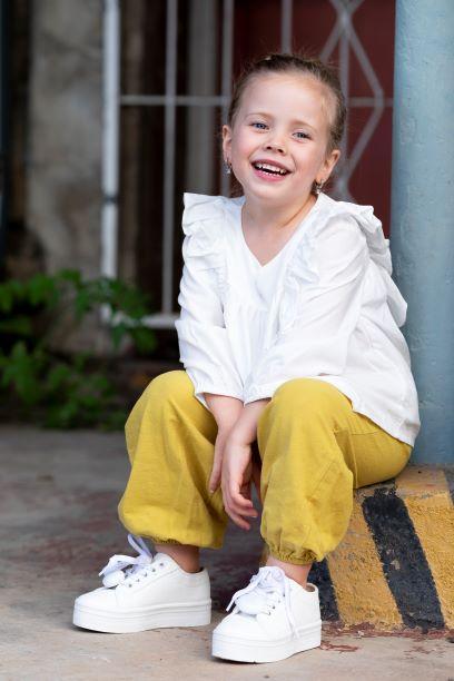 Punanki Kids Clothing Girls Linnen Pants
