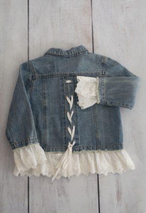 Punanki Kids Clothing Girls Jean & Lace Jacket