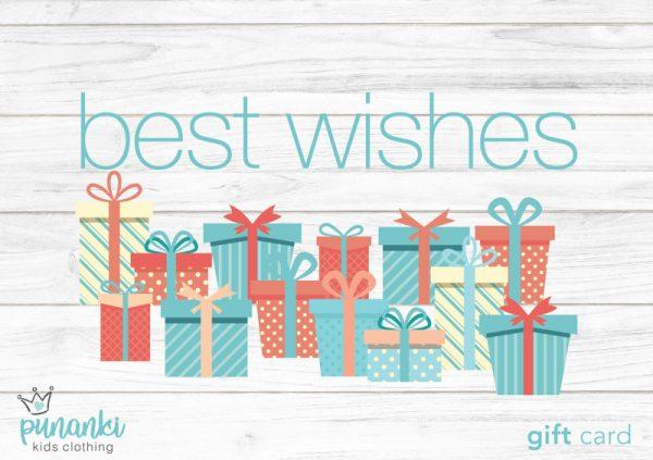 Punanki Kids Clothing Gift Card Best Wishes