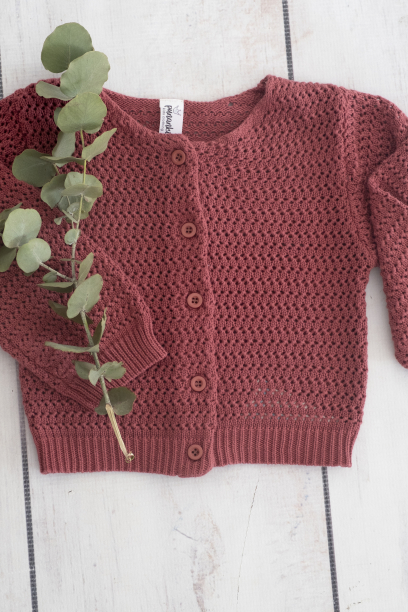 Punanki Kids Clothing Girls Red Knitted Jersey
