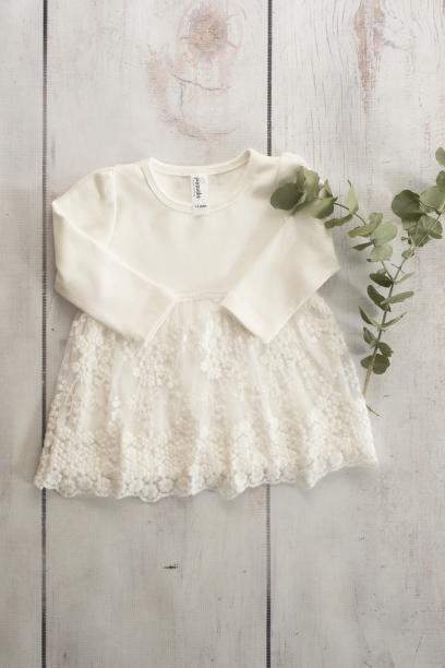 Punanki Kids Clothing Girls White Lace Dress