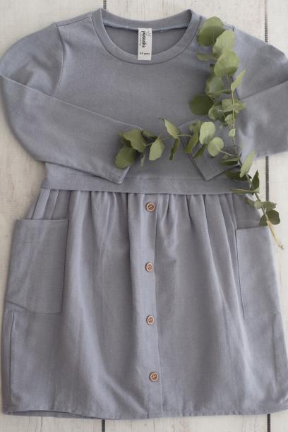 Punanki Kids Clothing Girls Grey Winter Dress
