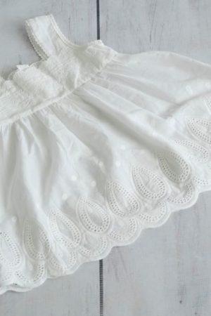 Punanki Kids Clothing Girls Beige Lace Dress