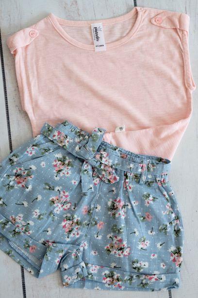 Punanki Kids Clothing Girls Blossom Shorts – Blue