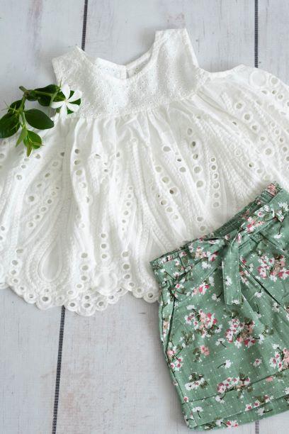 Punanki Kids Clothing Girls Blossom Shorts – Mint