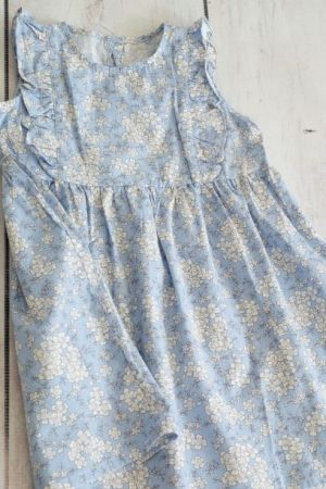 Punanki Kids Clothing Girls Blue Vintage Floral