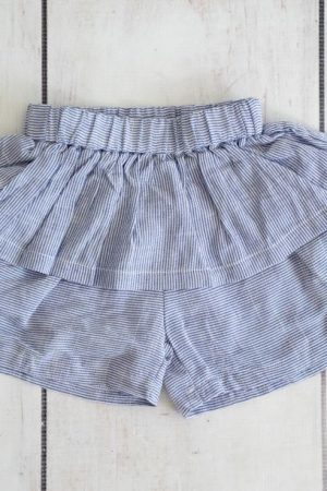 Punanki Kids Clothing Girls Blue Stripe Short