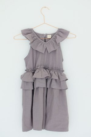 Grey Frilly Dress