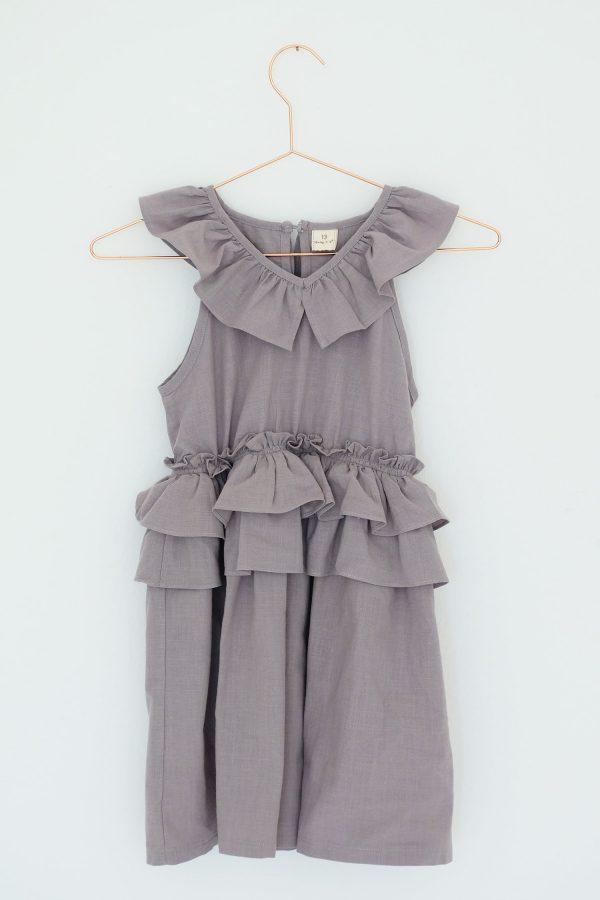 Punanki Kids Clothing NEW ARRIVALS Grey Frilly Dress