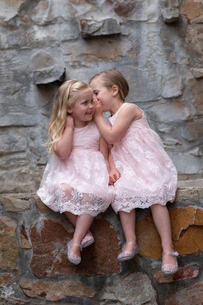 Punanki Kids Clothing Girls Pink Lace Formal Dress