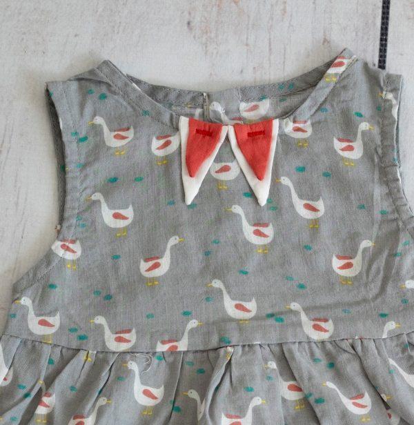 Punanki Kids Clothing Girls Grey Duck Dress