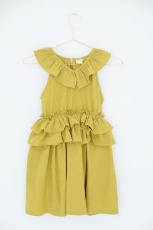 Mustard Frilly Dress