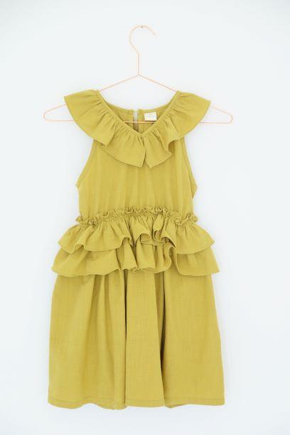 Punanki Kids Clothing Girls Mustard Frilly Dress