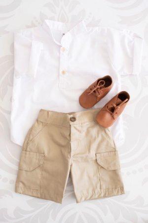 Punanki Kids Clothing Boys Beige Boys Short Set