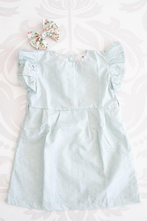 Punanki Kids Clothing Girls Duck Egg Frilly Dress