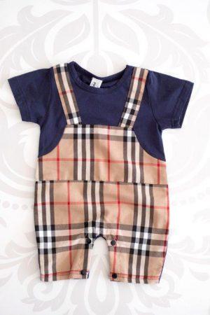 Punanki Kids Clothing Boys Printed Dungaree Baby Boys