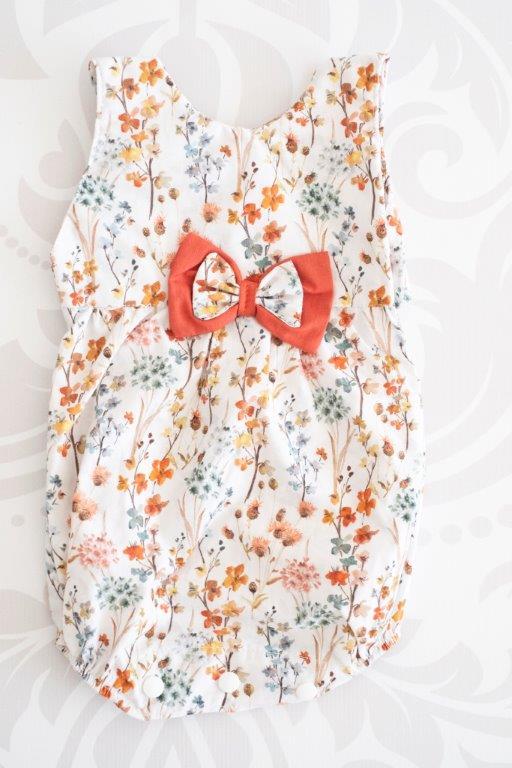 Punanki Kids Clothing Baby Girls Spring Harvest Romper