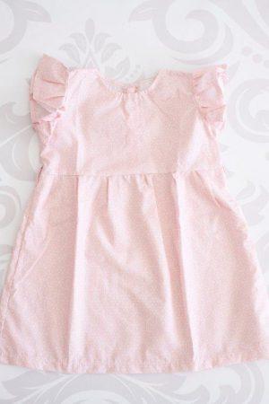 Punanki Kids Clothing Girls Pink Frilly Dress